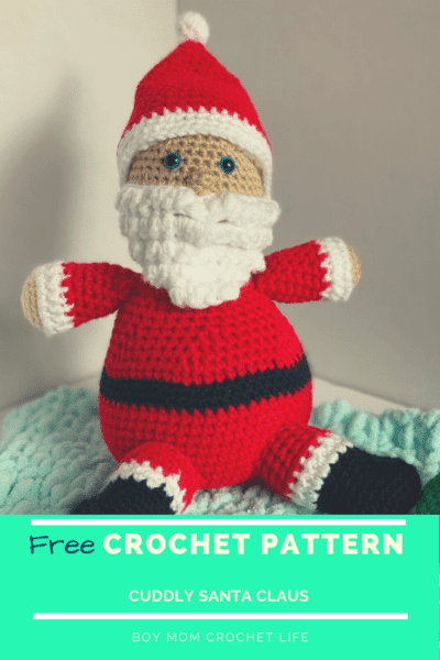 Free Crochet Pattern for a cuddly Santa for your little!
